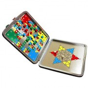OveeLando 2 IN 1 Ludo and Chinese checkers game travel case for kids and family Flying Airplane Chess