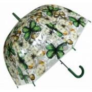 Deštník dámský vystřelovací motýl zelený 9160-24 9160-24