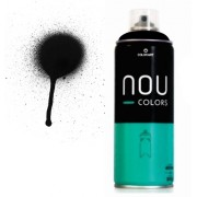 Spray Nou Colors 400ml Preto