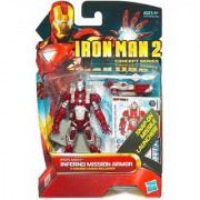 Iron Man 2 Movie 4 Inch Action Figure - Iron Man Inferno Mission Armor by Hasbro
