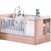 Sauthon meubles Lit chambre transformable 70x140cm norway