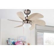 Ventilador techo luz cromo palas arce 50430 CR