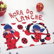 Toalha de Lancheira Infantil Estampada Ladybug 24 cm x 42 cm