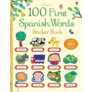 100 First Spanish Words Sticker Book by Mairi Mackinnon