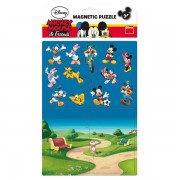 Puzzle magnetic - Mickey si prietenii (16 piese)