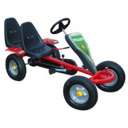 Red Pedal Go-Kart Two Seats Fun with 2 Stickers