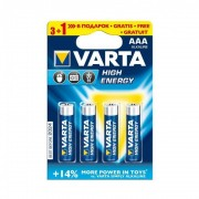 Varta Alcaline Batteries R3 4 buc High Energy