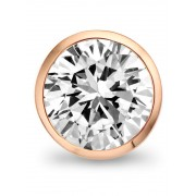 Casa Jewelry Clip White Facet van zilver rosé verguld