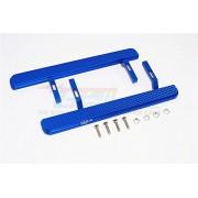Axial SCX10 II Upgrade Parts (AX90046, AX90047) Aluminium Exterior Trail (Diamond Pattern) - 1Pr Set Blue