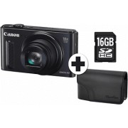 CANON Powershot SX610 HS + Travel Kit Zwart