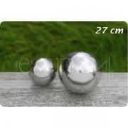 Boltze Deko Kugel aus Edelstahl für den Garten oder Teich 27 cm