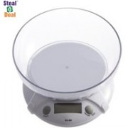 Stealodeal Multipurpose Kitchen 1g to 7Kg With Bowl Weighing Scale(White)