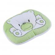 Bear Pattern Oreiller Nouveau-Né Infantile Baby Support Coussin Pad Prévenir La Tête Plate - Vert