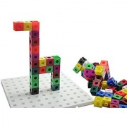 Linking cube blocks and building baseboard - 2cm connecting cubes - Building block toy set Busy Bag Activity