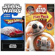 Star Wars BB8 Play Pack Fun & Team Hot Wheels Exclusive Car - Coloring Book Crayons Stickers Party Hot Wheel Star Wars Car fun set
