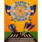 Paper Plane Game Set ~ 8 Planes to Fold with Point Marked Landing Strip ~ Superhero/Lightening Prints
