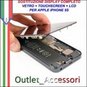 Sostituzione Riparazione Cambio Display 5S Lcd Vetro Touch Touchscreen Schermo Rotto per Apple Iphone 5S