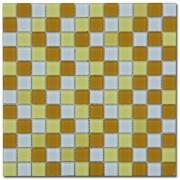 Maxwhite ASHS21 Mozaika skleněná žlutá bílá okrová 29,7x29,7cm