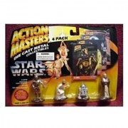 Star Wars Action Masters 4 pack with C-3PO R2-D2 Leia and Obi Wan Kenobi