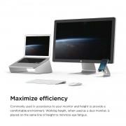 Elago L4 Stand - ергономична дизайнерска поставка за MacBook, преносими компютри и таблети (сребрист)
