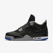Nike Air Jordan 4 Retro Negro,Plata mate,Blanco,Royal juego