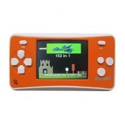 WOLSEN 2.5 LCD Portable Game Console Speaker (Orange + White) (3 X AAA) 152 in 1 Games