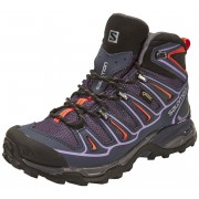 Salomon X Ultra Mid 2 GTX Hiking Shoes Women nightshade grey/deep blue/coral punch 40 2/3 Multifunktionsschuhe