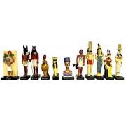 """Ancient Egypt Egyptian God 11 Figurines Set Resin Statue size 5"""" high (Anty, Atoum, Noun, Aton, Seth"""