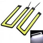 Marsing 10W Blanca COB LED en forma de U del coche lampara corriente diurna (2 piezas)