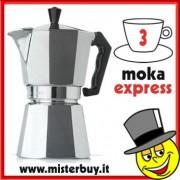 MOKA ESPRESSO CAFFETTIERA ESPRESSO TRE TAZZE