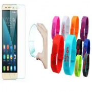 Lenovo A7000 Plus 0.3mm Curved Edge HD Flexible Tempered Glass with Waterproof LED Watch