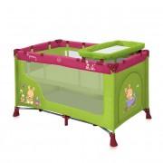 Bertoni krevet torba Nanny 2 nivoa green&pink bunnies