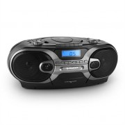 Auna RCD 230 Portable CD Stereo AM/FM Radio Cassette USB SD MP3 Black