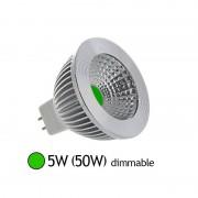 Vision-EL Spot Led 5W (50W) dimmable GU5.3 12V Lumière verte