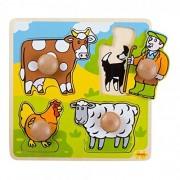 Bigjigs Toys BJ520 - Mi primer puzzle de granja (piezas de madera)