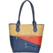 FD Fashion Shoulder Bag(beige, red & blue, 5 L)