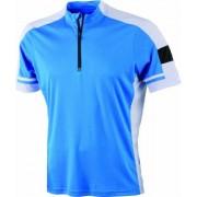 James & Nicholson Men's Bike-T-Half Zip Camiseta de ciclismo para hombre, color cobalto, talla S