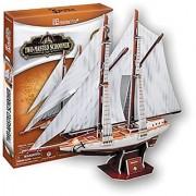 3D Jigsaw Puzzle Two-masted?schooner CubicFun 3D Puzzle T4007h 81 Pieces Decorative Fashion Best Seller Cubic Fun Exiti