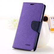 First 4 Covers For Oppo A37 Back Cover & Front Cover Wallet Diary Case (Purple)