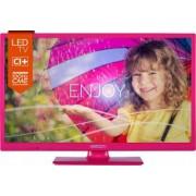Televizor LED 60 cm Horizon 24HL712H HD UltraSLIM Roz 3 ani garantie Bonus Set Plastilina MomKi Briose