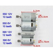 Generic 12v 23000r : 6V 12VR S550 ld electric car motors remote control cars gearbox motors, kid's electric motorcycle motor, toy car accessories