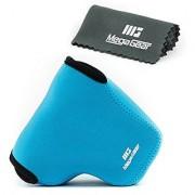 MegaGear ''Ultra Light'' Neoprene Camera Case Bag with Carabiner for Canon PowerShot G3 X G3X Digital Camera (Blue)