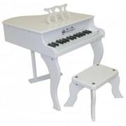Schoenhut White Baby Grand Piano - 30 keys