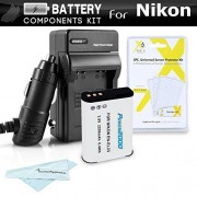 Battery And Charger Kit For Nikon COOLPIX B700 P900 P610 P600 Wi-Fi Digital Camera Includes Extended Replacement (2200Mah) EN-EL23 Battery + Ac/Dc Rapid Travel Charger + MicroFiber Cloth + More