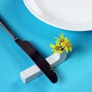 Lame Tranquille, repose couteau ou baguettes et soliflore, porcelaine de Limoges, design éco-responsable