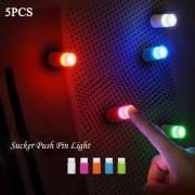 rosegal 5PCS Small Push Pin Light Multi-functional Colorful LED Sucker for Bulletin Board Refrigerator