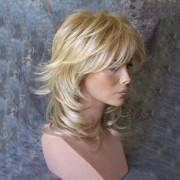 rosegal Medium Inclined Bang Tail Upwards Layered Slightly Curly Human Hair Wig