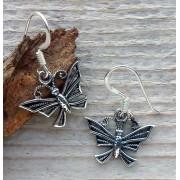 oorbellen vlinders zilver 0445
