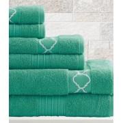 6 Piece Egyptian Cotton Towel Set Quatrefoil (Jade)