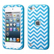 Funda Protector Triple Layer Apple Ipod Touch 5G Azul / Blanco Zic Zac Antiderrapante